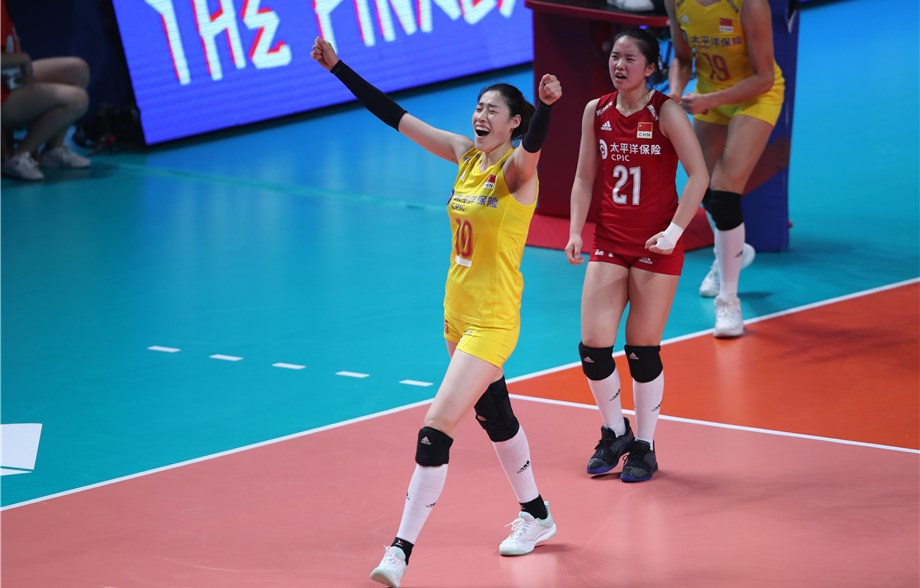 China produced a fine team effort to beat Italy in four sets and complete the last-four line-up at the FIVB Women's Nations League finals in Nanjing ©FIVB