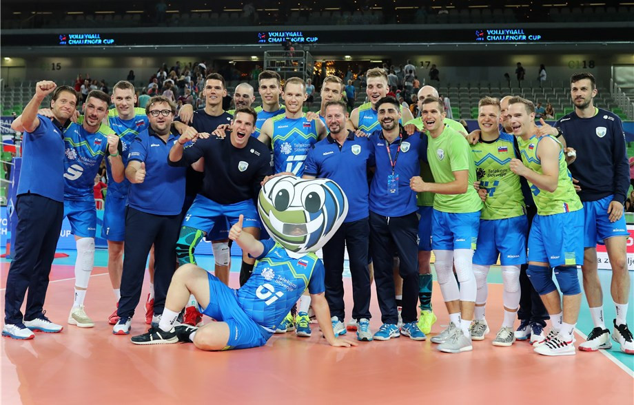Hosts Slovenia topped their group at the FIVB Men's Challenger Cup in Ljubljana ©Getty Images