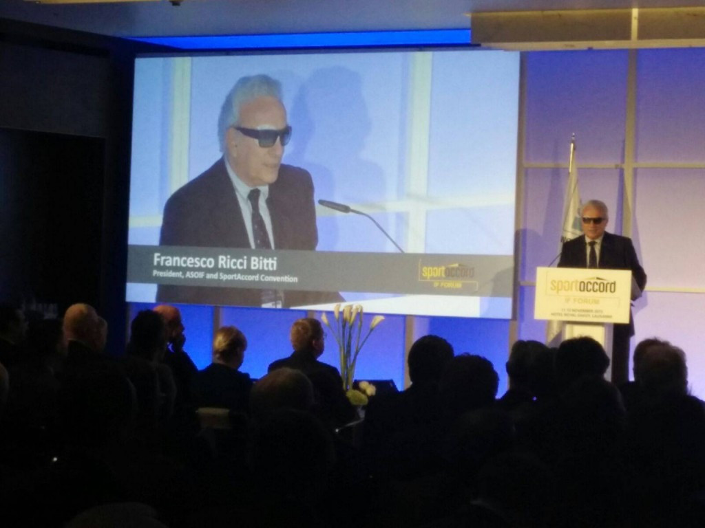 ASOIF and SportAccord Convention President Francesco Ricci Bitti also spoke today on the challenges facing federations ©SportAccord