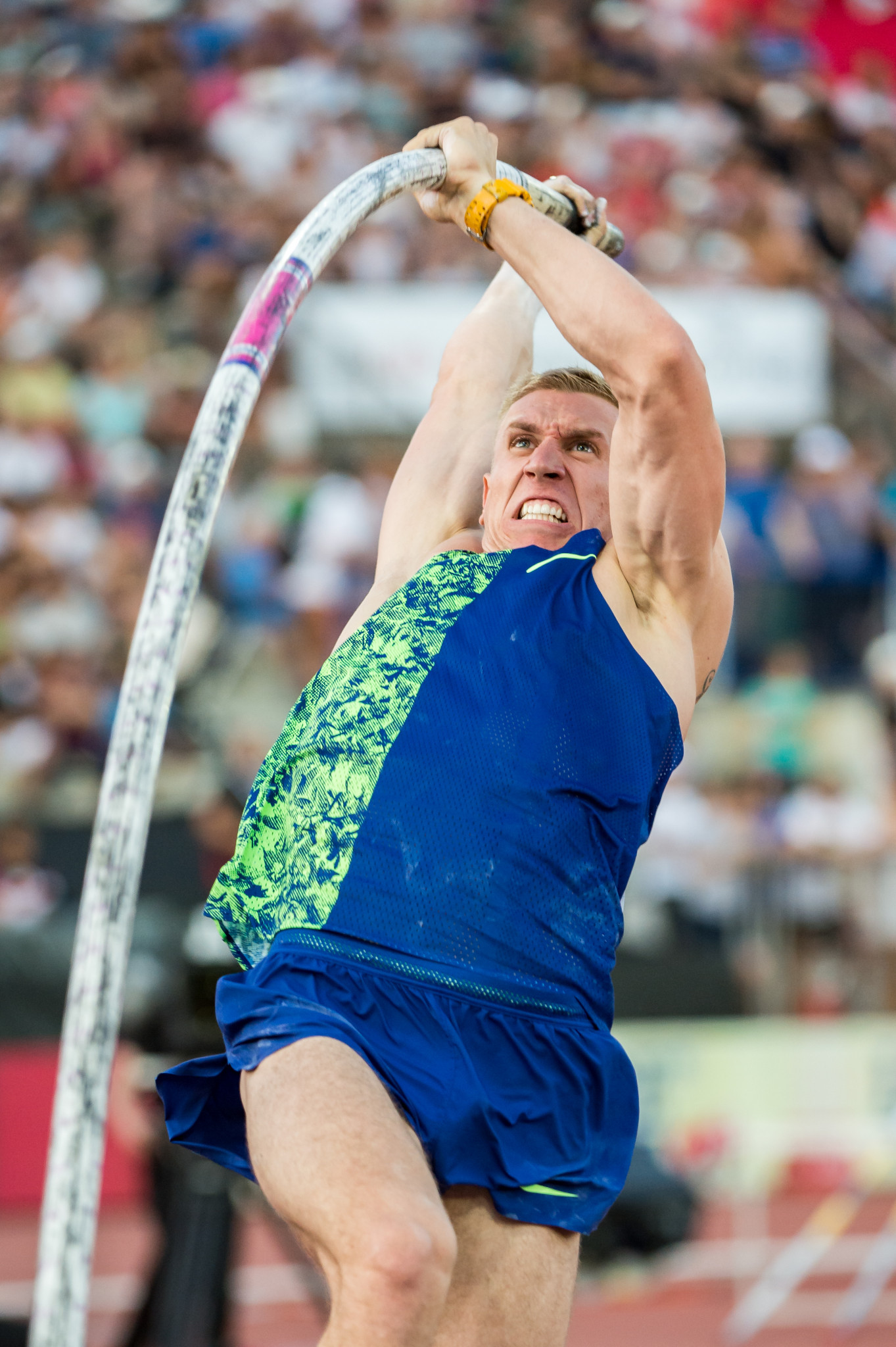 Poland's Piotr Lisek won the pole vault at the IAAF Diamond League in Switzerland in a personal best 6.01 metres ©Getty Images