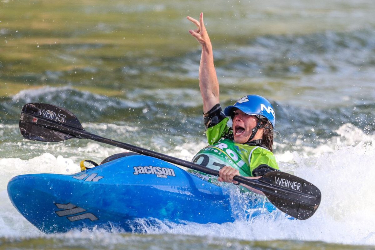 America's Mason Hargrove was an impressive winner of the junior men's title at the ICF Canoe Freestyle World Championships on his debut at a major international event ©ICF