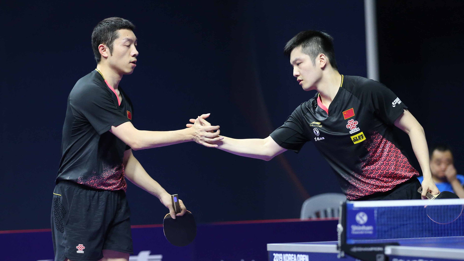 Fan and Xu end disappointing day with men's doubles title at ITTF Korea Open
