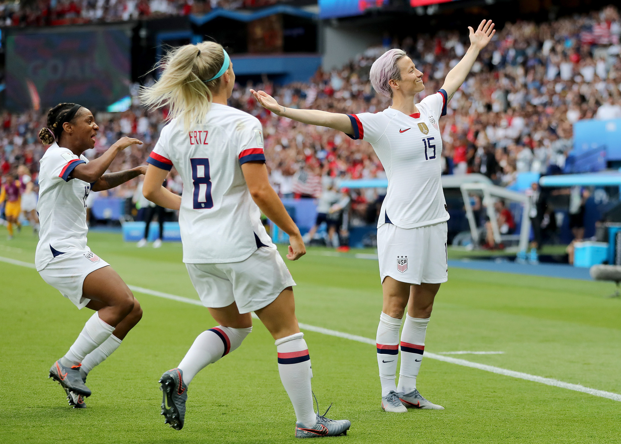 Megan Rapinoe of the United States caught the attention of President Donald Trump while playing in the Women's World Cup ©Getty Images