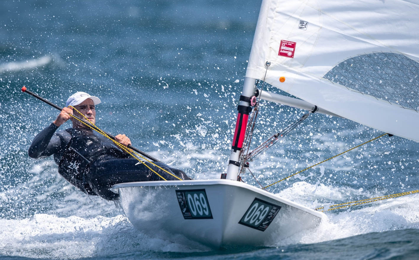Two wins out of two on the final day of qualification racing at the Laser Men's World Championship in Japan left New Zealand's Sam Meech top of the listings ahead of the medal matches ©Junichi Hirai / Bulkhead Magazine Japan