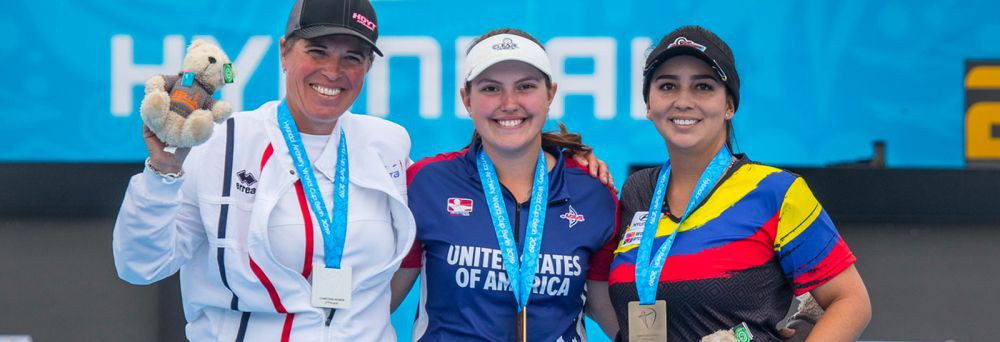 American Alex Ruiz sealed gold in the women's compound final after she defeated Sophie Dodemont of France ©World Archery