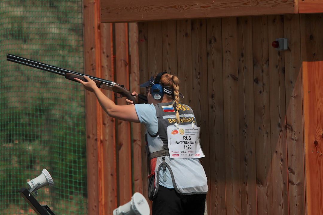 Russian Zilia Batyrshina claimed the junior women's skeet honours ©ESC