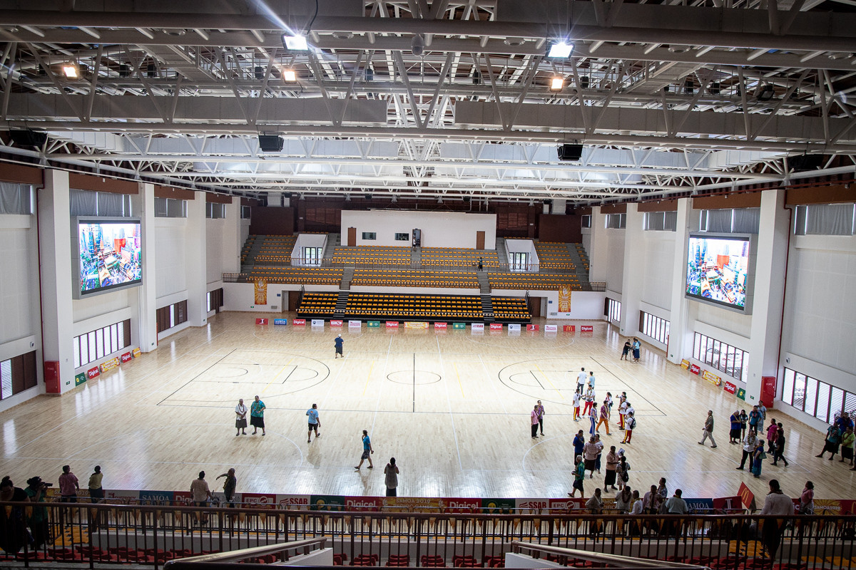 The Multi-Sport Centre at the Faleata Sports Complex in Apia has been built with the help of funding from China and is set to host badminton and netball during the Pacific Games ©Samoa 2019