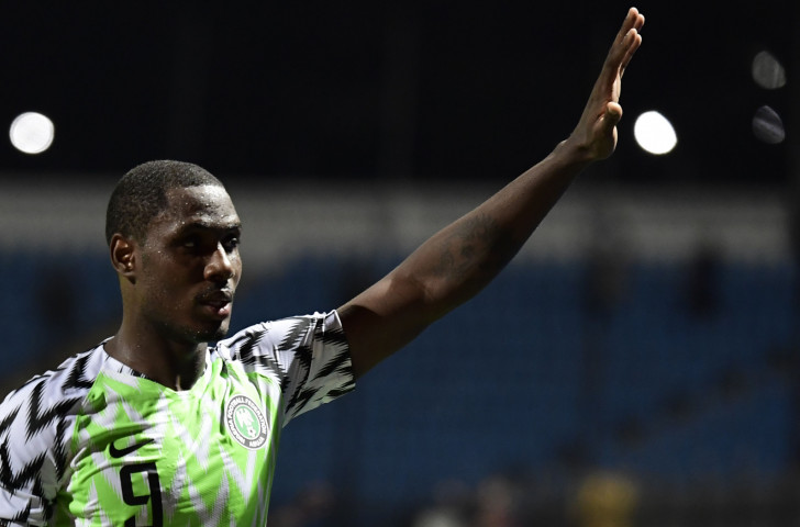 Nigeria's Odion Ighalo scored twice and made the third goal as his side beat defending champions Cameroon 3-2 to reach the quarter-finals of the Africa Cup of Nations in Egypt ©Getty Images