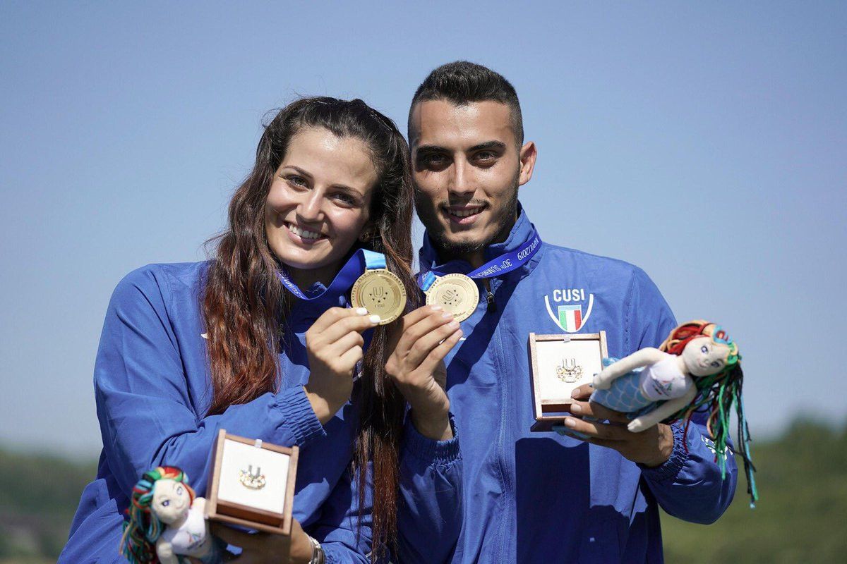 Home shooters stun Chinese Taipei pair to earn mixed team trap gold at Naples 2019