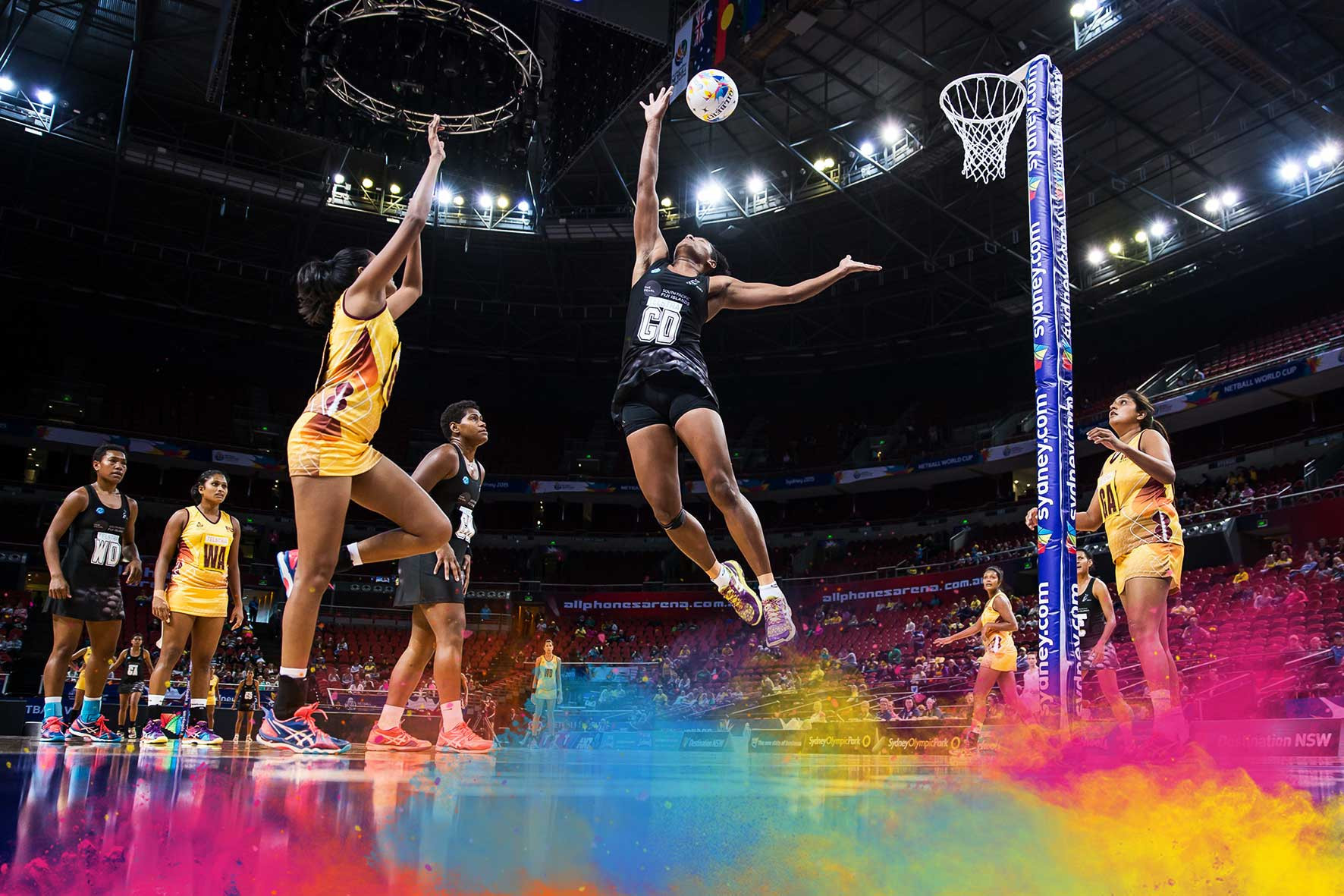 Dance, music, projections and pyrotechnics will be witnessed by an arena audience of more than 6,000 people and an international TV audience of hundreds of thousands during the Opening Ceremony for the Netball World Cup in Liverpool ©NWC2019