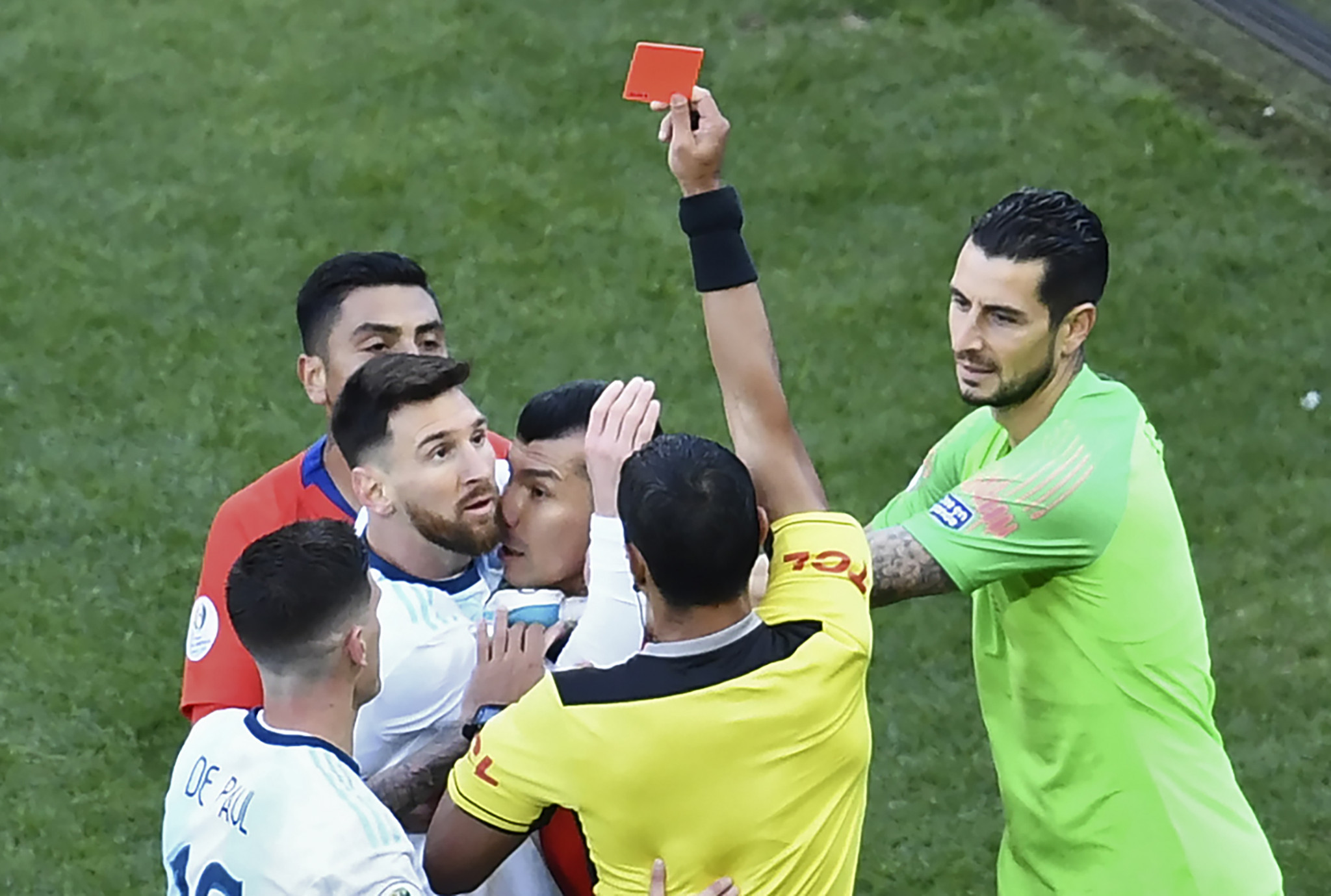 Messi accuses Copa América officials of corruption as red card overshadows Argentina's bronze