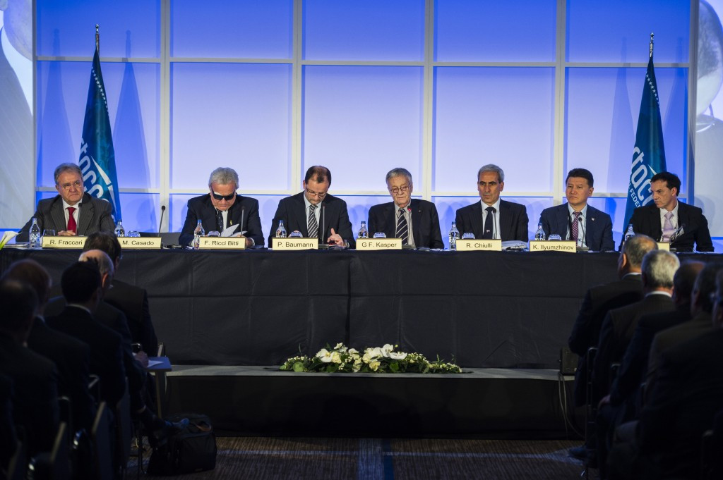 SportAccord's ruling council during today's Extraordinary General Meeting ©SportAccord