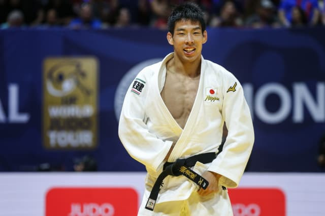 Takanori Nagase defeated the host nation's Antoine Valois-Fortier in his final  ©IJF