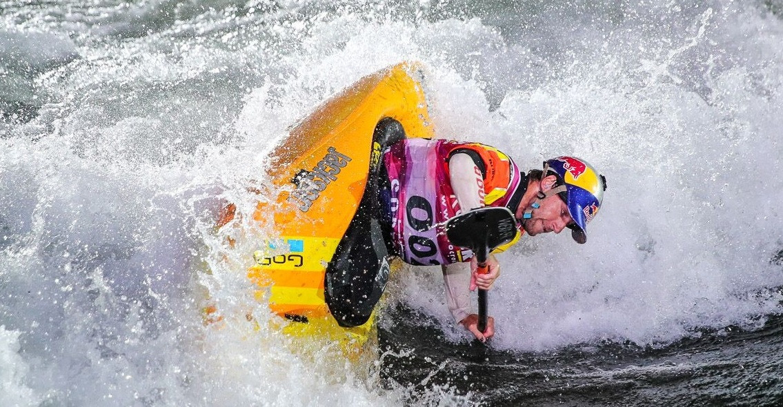 American Dane Jackson won the men's kayak surface title ©ICF