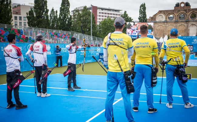 Turkey overcame Ukraine to claim the men's team recurve gold medal ©World Archery