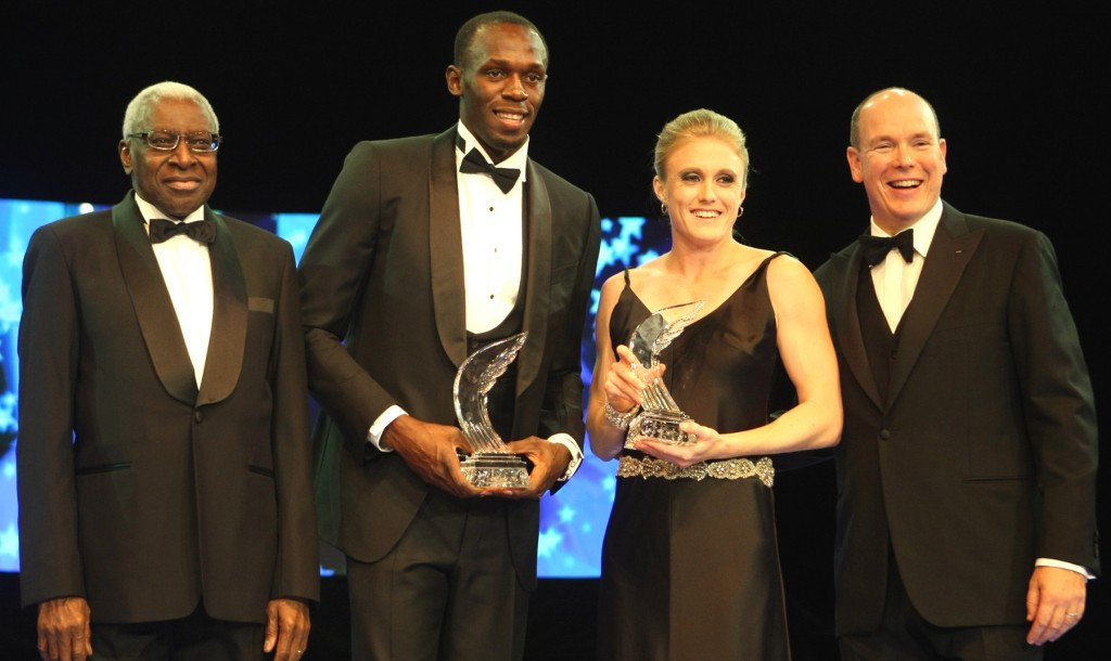 Lamnie Diack (left) has resigned as President of the International Athletics Foundation, whose Honorary President is Prince Albert II of Monaco (right) and which organised the annual IAAF Awards Gala