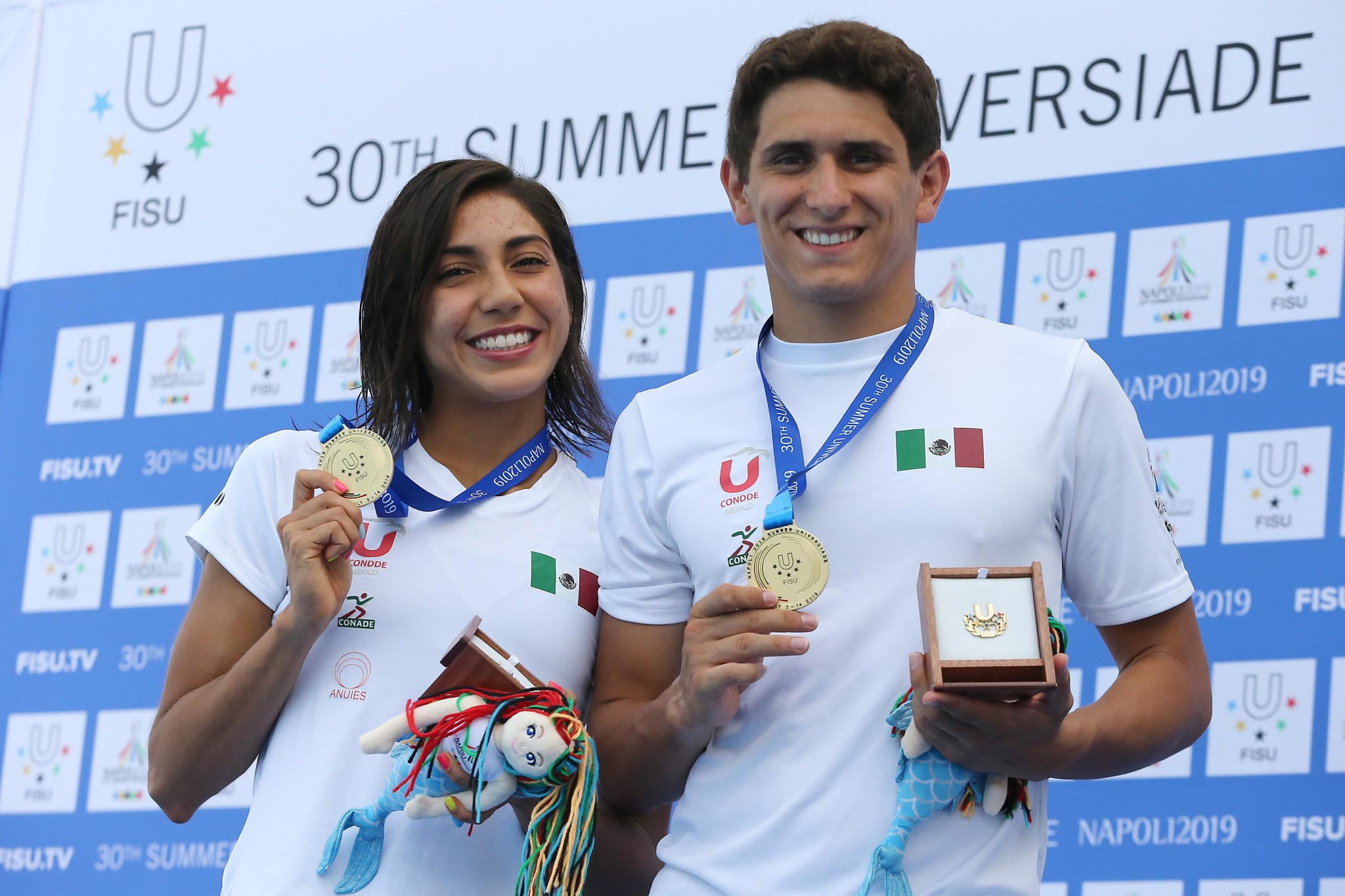Mexico halted China's diving domination with two golds at Mostra d'Oltremare ©Naples 2019