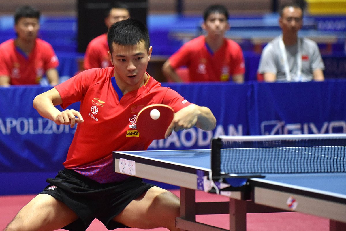 China had a successful day in the table tennis, winning gold in the men and women's team events ©FISU
