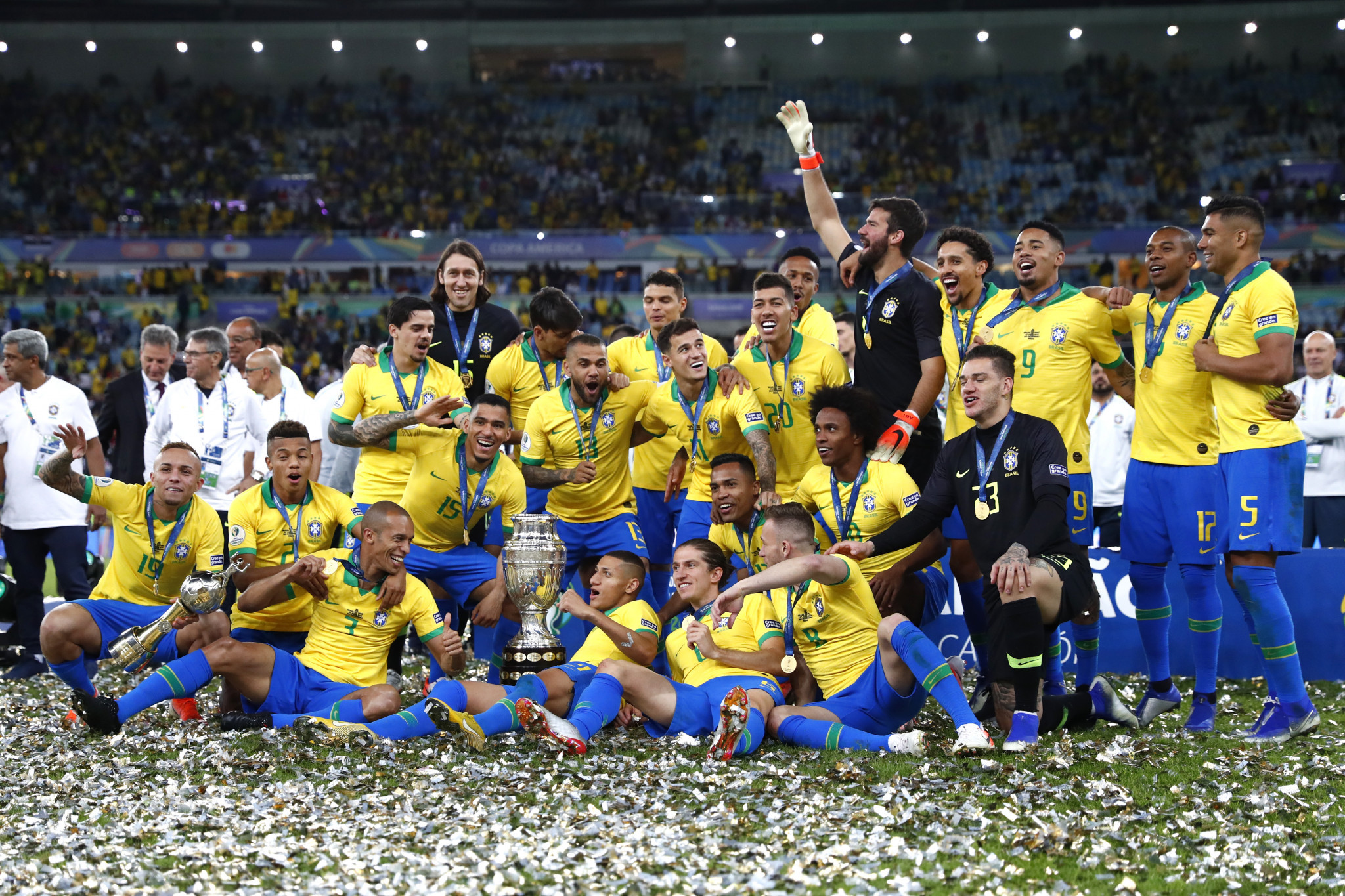 Hosts Brazil defeat Peru to win ninth Copa América title