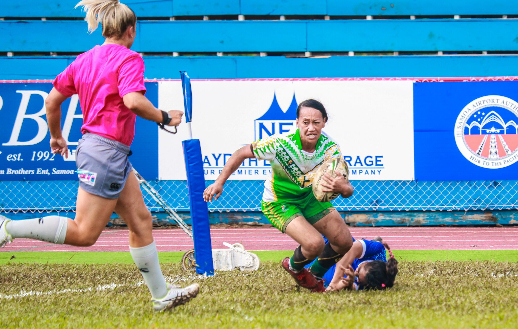 History was made earlier today with the first women's rugby league nines matches taking place at the Pacific Games ©Games News Service