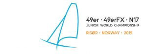 Action concluded today at the Junior World Sailing Championship in Risør ©Risør 2019