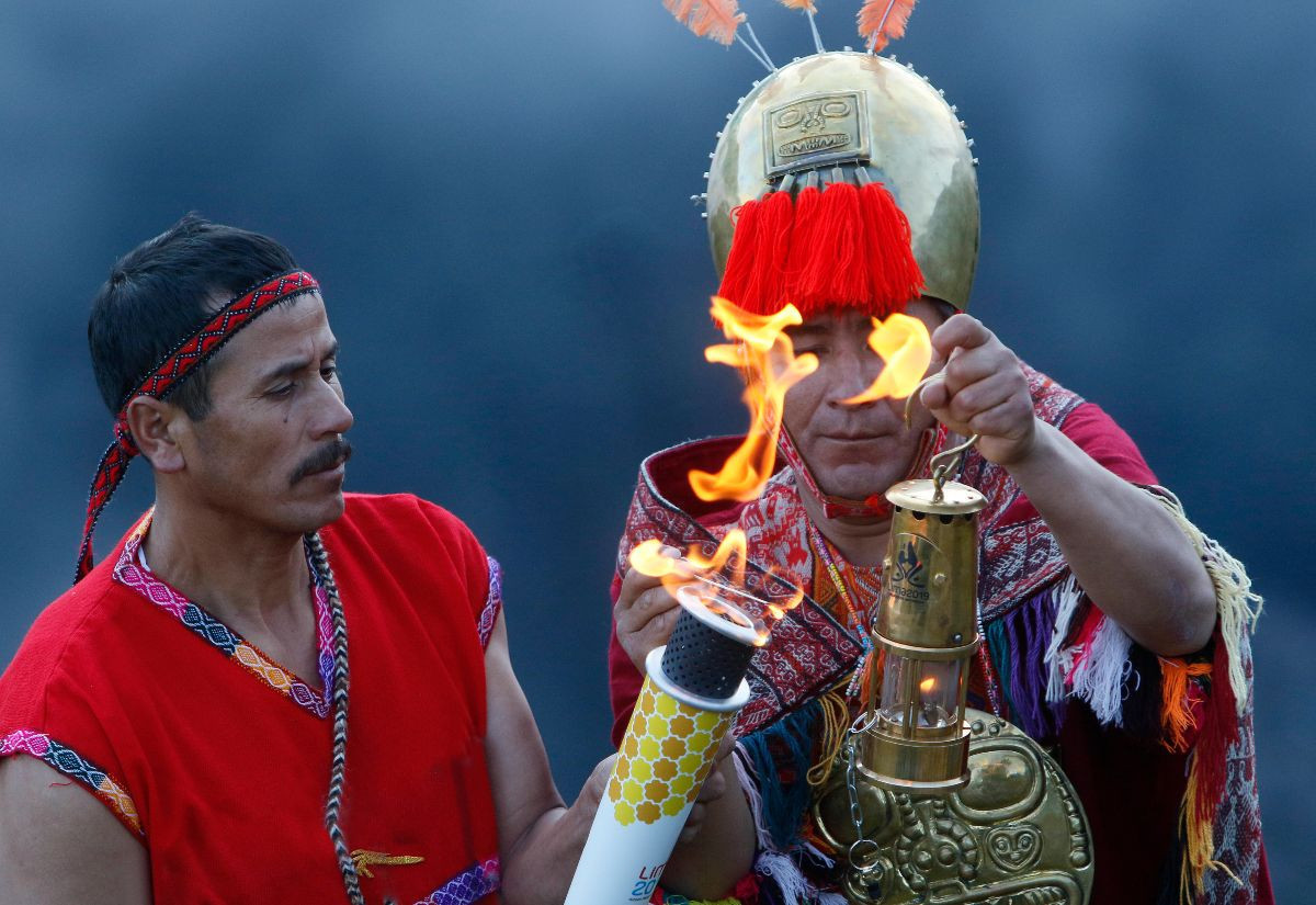 Pan American Games Torch Relay underway after flame is ignited in Machu Picchu ruins