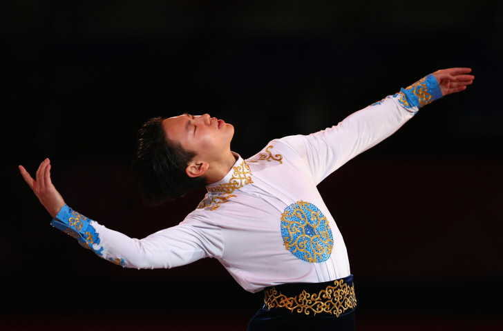 Olympic figure skating medallist, poet and songwriter Denis Ten of Kazakhstan has had a memorial celebrating his life and achievements unveiled in Almaty ©Getty Images