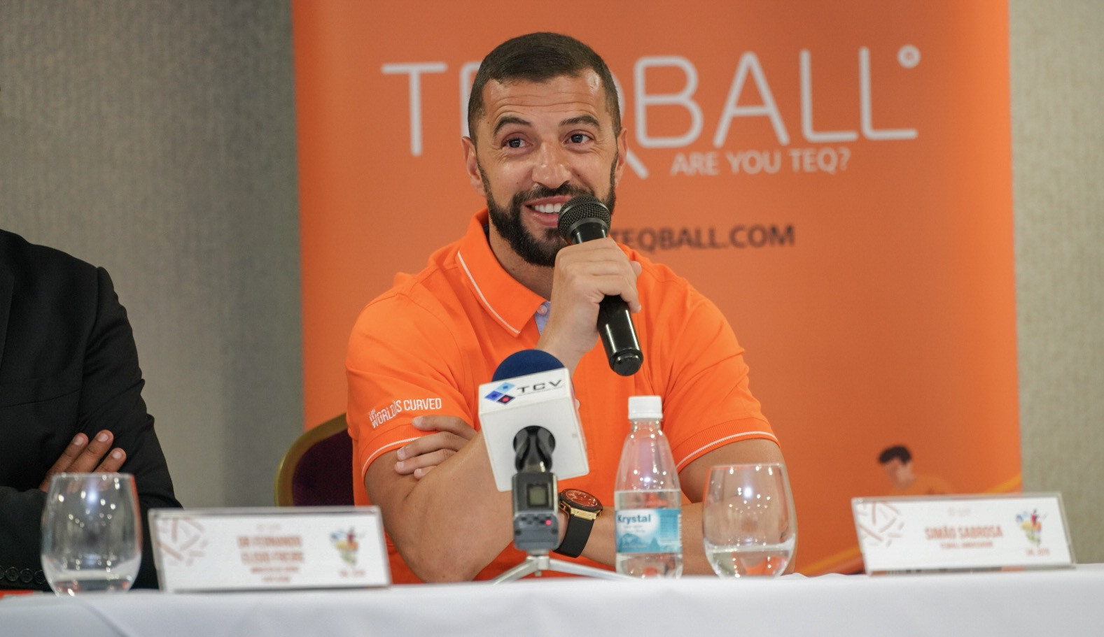 Simão Sabrosa has been encouraged by the increasing popularity of teqball ©FITEQ