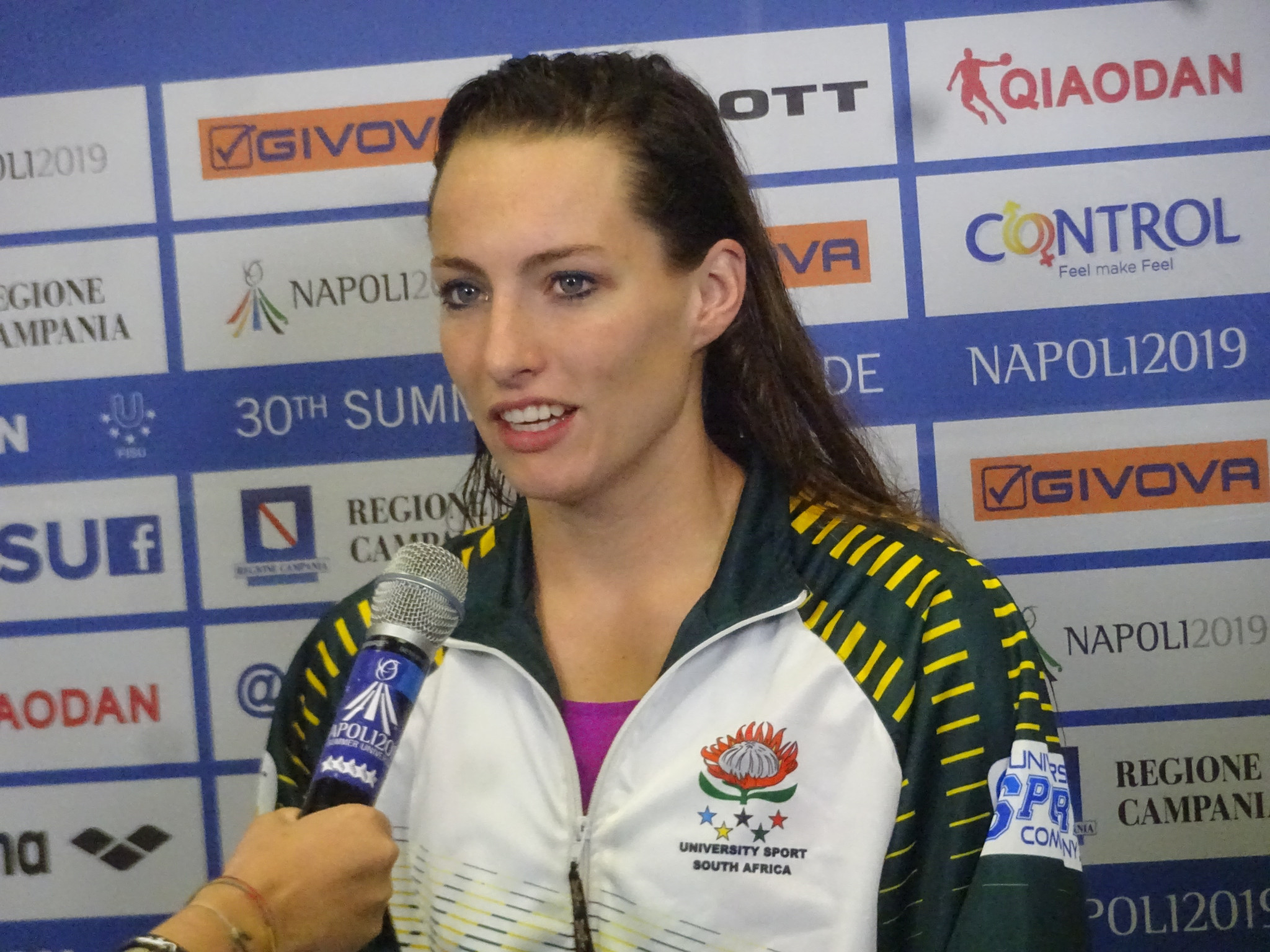 Tatjana Schoenmaker became South Africa's most successful Universiade swimmer at Piscina Scandone ©Philip Barker