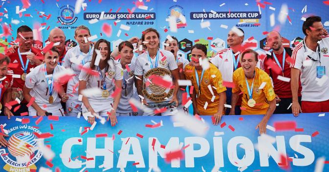 Russia successfully defend women's Euro Beach Soccer League title in Portugal