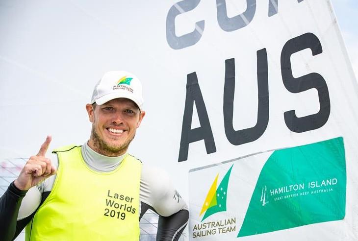 Burton keeps rivals at bay to win Laser Men's World Championship