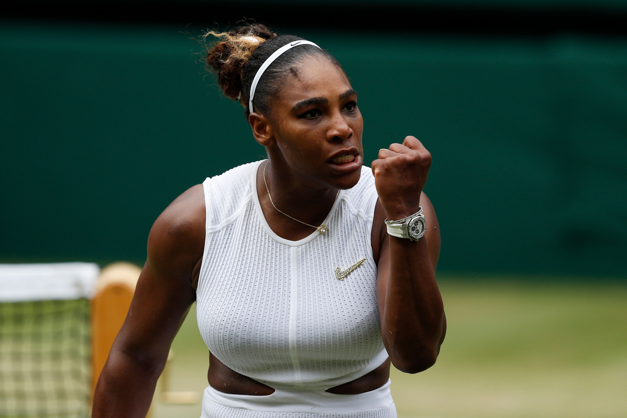 Serena Williams beat fellow American Alison Riske in three sets today to reach the women's singles semi-finals at Wimbledon ©Getty Images