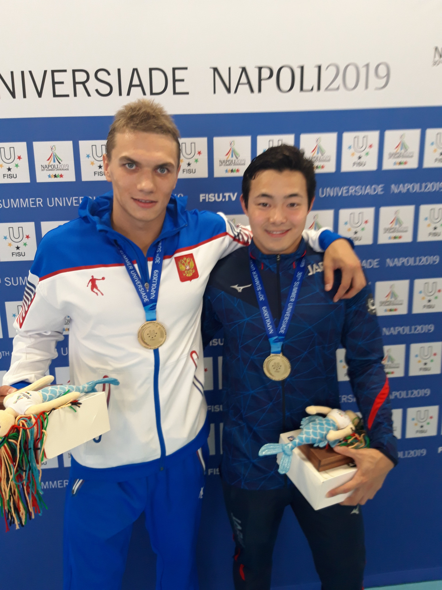 Ishikawa and Kuimov share gold after second swimming dead heat of Universiade