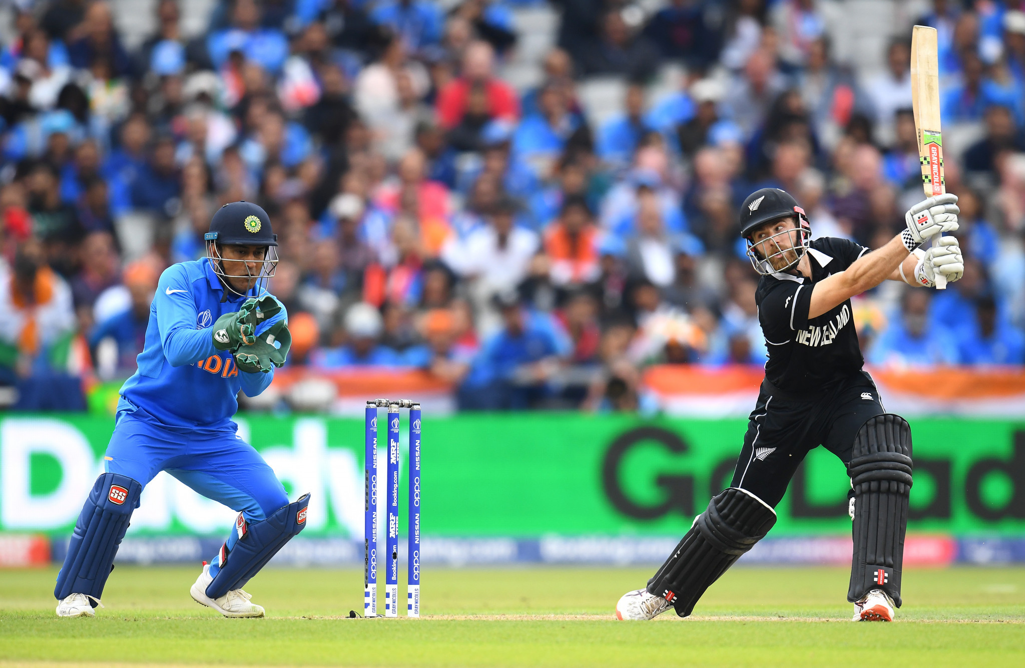 New Zealand's captain Kane Williamson scored 67 to help his side reach 211 for five wickets at Old Trafford in Manchester before rain forced play to be abandoned for the day ©Getty Images