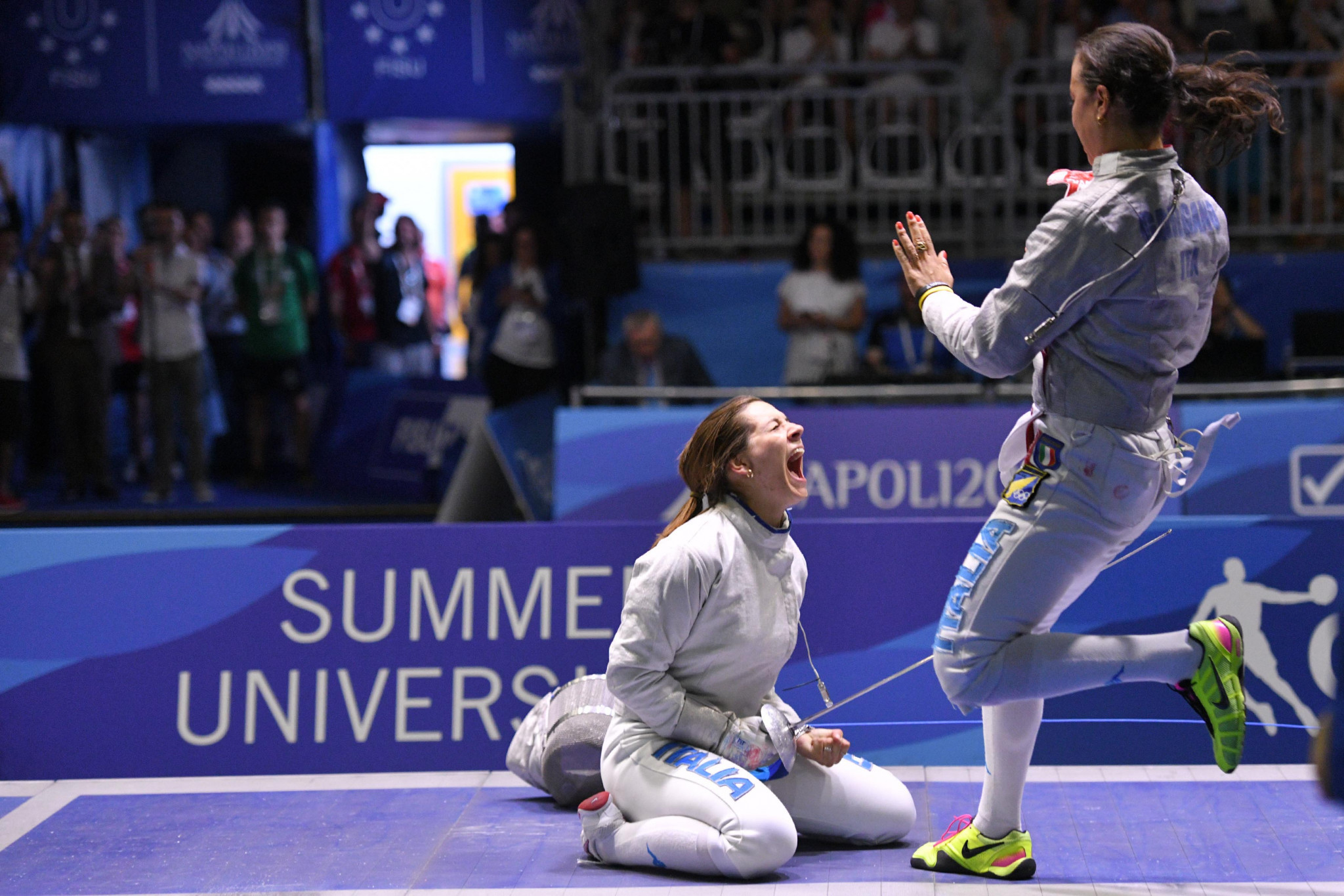 Italy won two gold medals on the last day of fencing at Naples 2019 ©Naples 2019
