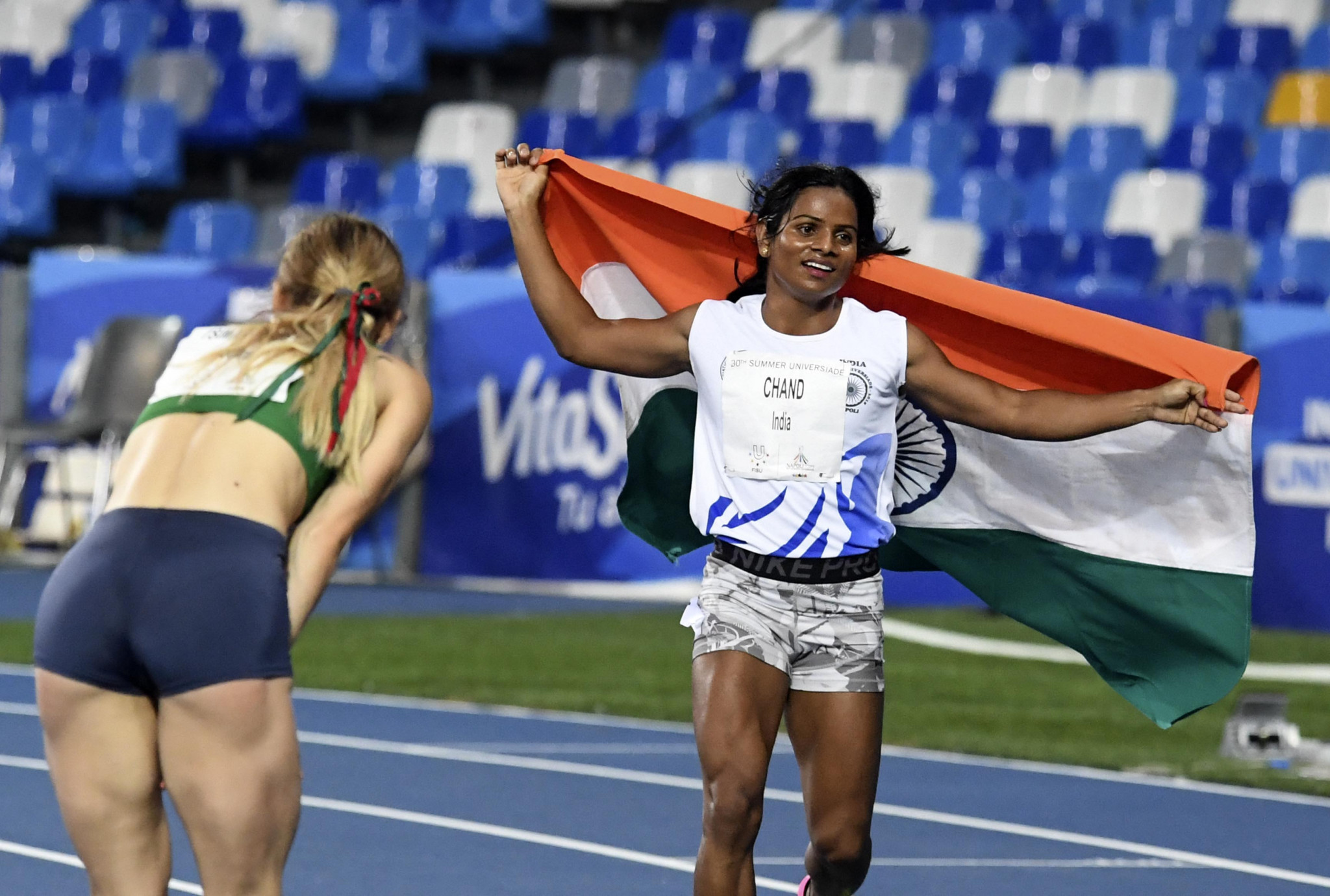 Chand races away from controversy as she powers to 100m glory at Naples 2019