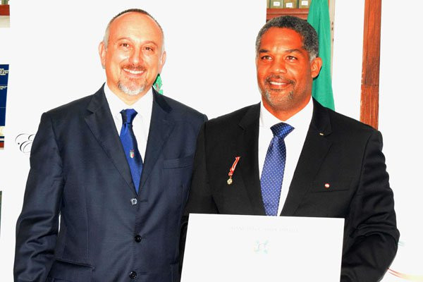 Uganda Olympic Committee head receives service honour from Italian President