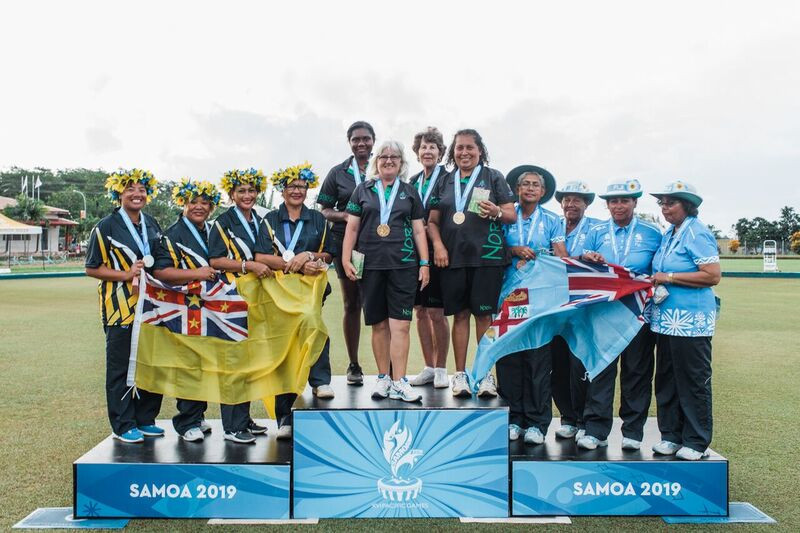 Norfolk Island claimed their first gold of the Games in the women's fours lawn bowls ©Games News Service