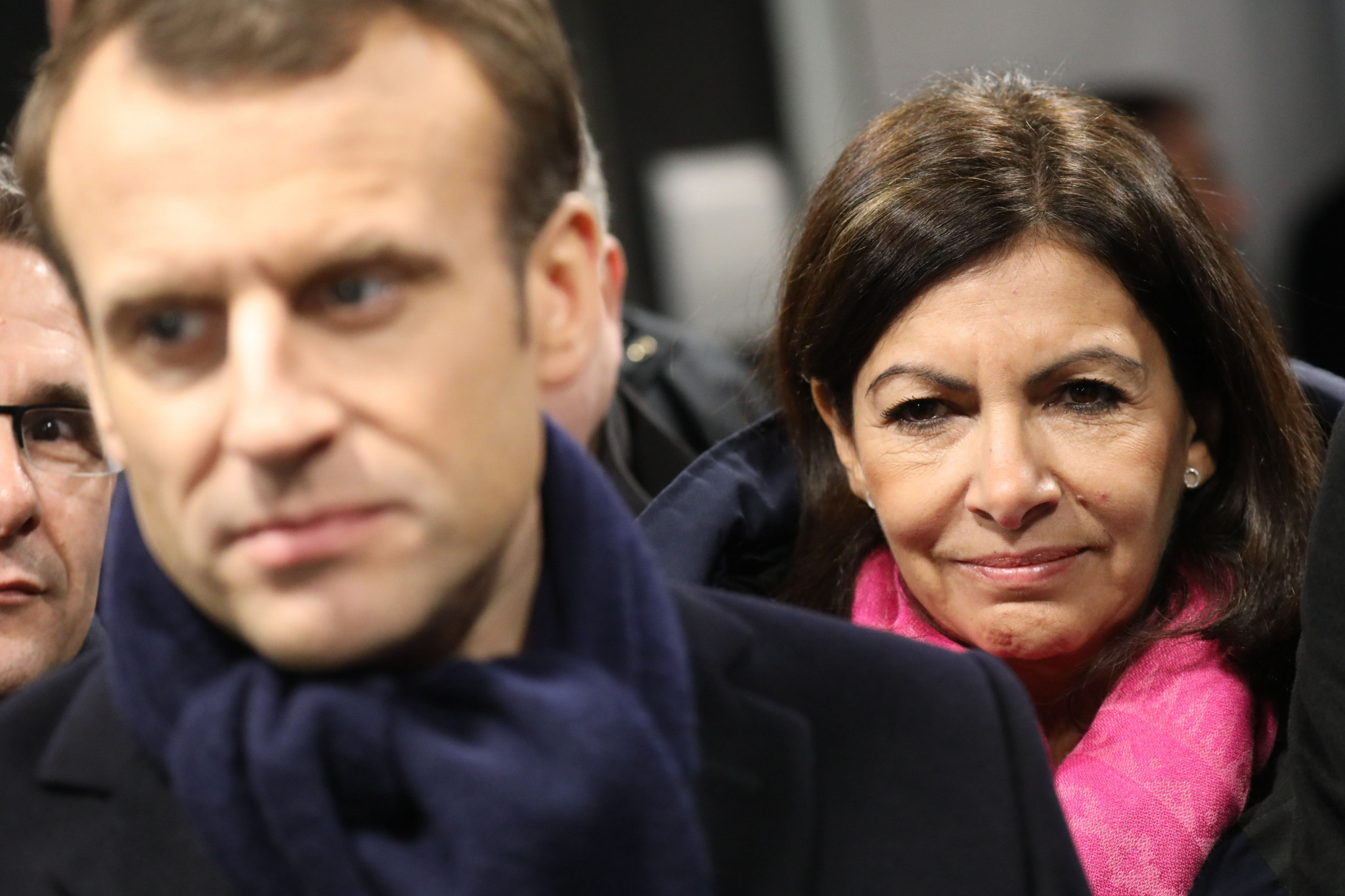Emmanuel Macron and Anne Hidalgo are involved in a skirmish over Paris 2024 sponsorship money ©Getty Images