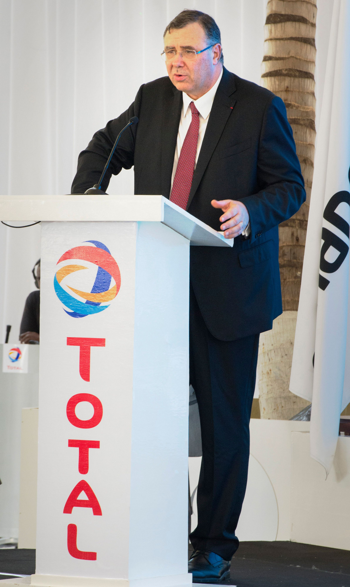 Total's chief executive Patrick Pouyanne has reportedly confirmed his company's decision to opt out of sponsoring the French capital's Olympics ©Getty Images