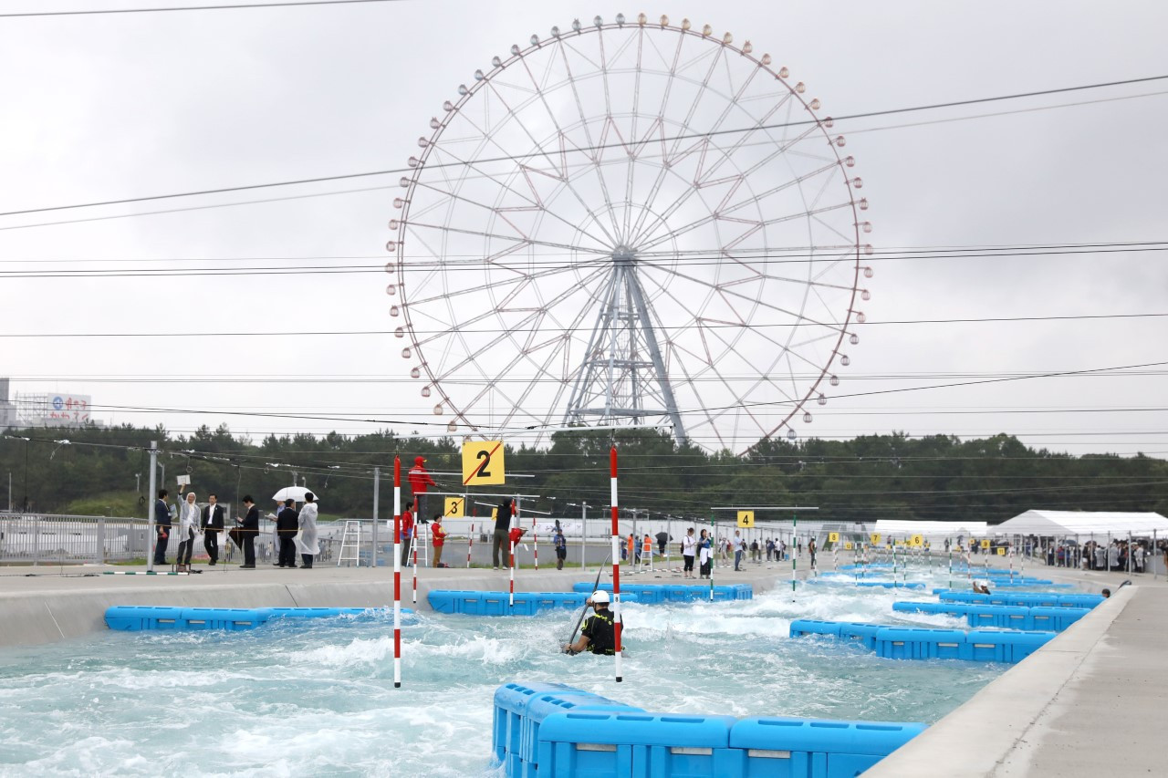 Japan's Kasai Canoe Slalom Centre is one of two new whitewater venues to open in recent weeks ©Tokyo 2020