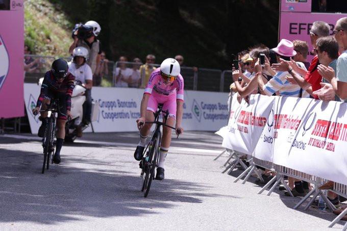 Defending champion Annemiek van Vleuten of The Netherlands extended her overall lead at the Giro Rosa ©Twitter