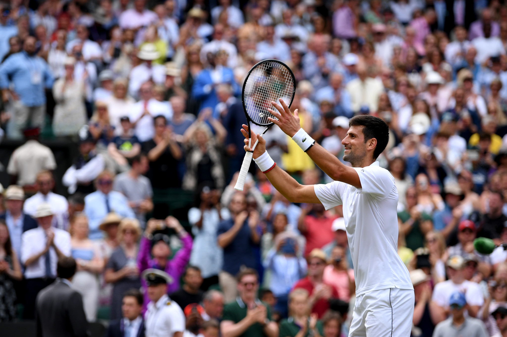 Djokovic through to semi-finals at Wimbledon as Nadal and Federer set up mouthwatering last-four clash