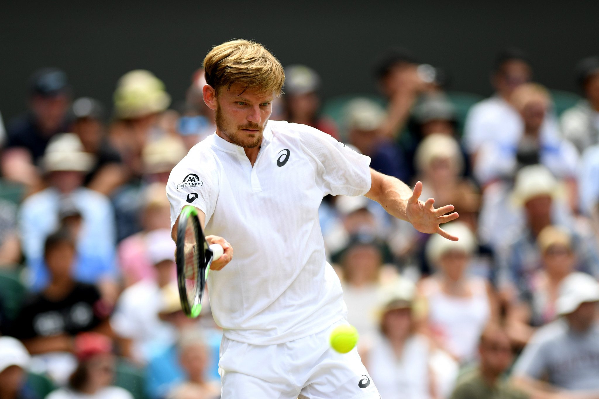 Belgium's Goffin started well, going a break up in the first set ©Getty Images