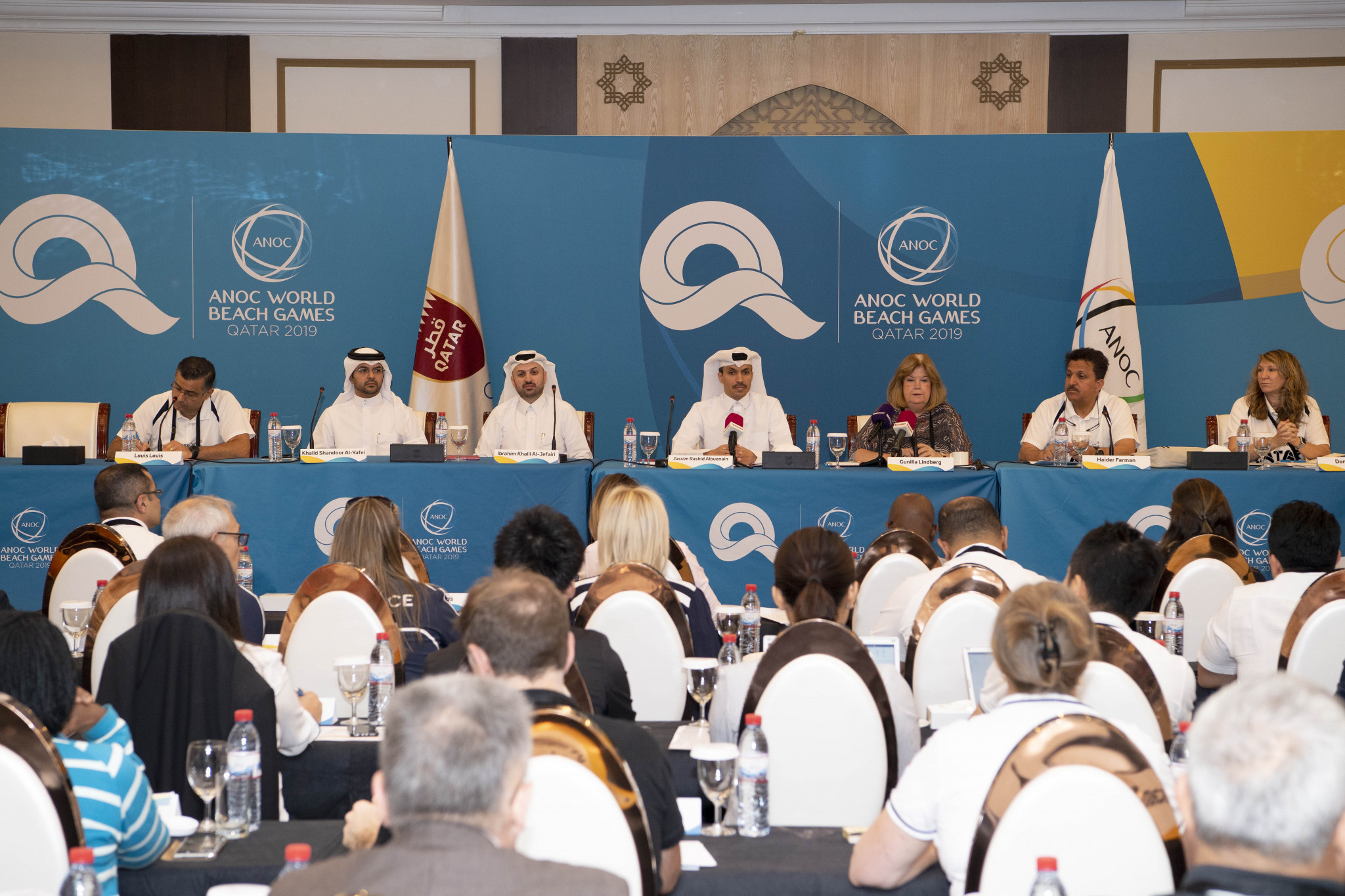 Chefs de Mission from 80 countries have inspected preparations for this year's ANOC World Beach Games in Qatar ©ANOC