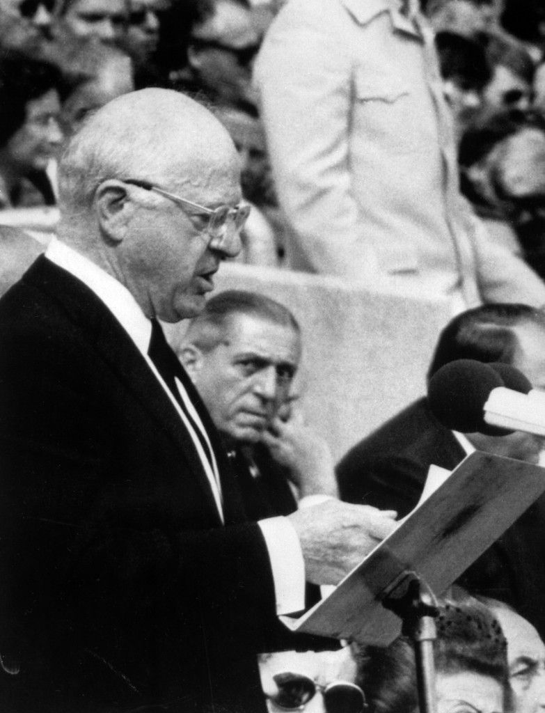 IOC President Avery Brundage, pictured at the Munich 1972 Olympic Games, kept the competition a closely guarded secret  ©Getty Images