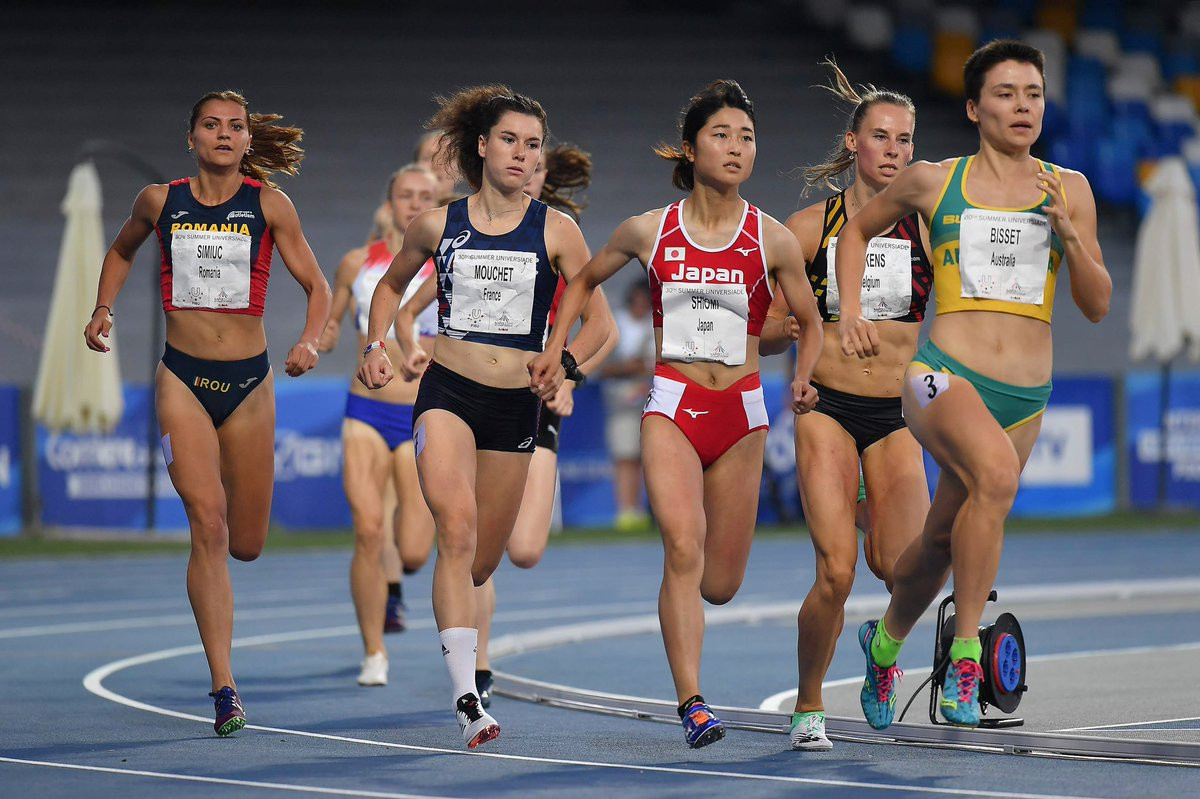 Catriona Bisset continued Australia's success, triumphing in the women's 800m final ©Naples 2019