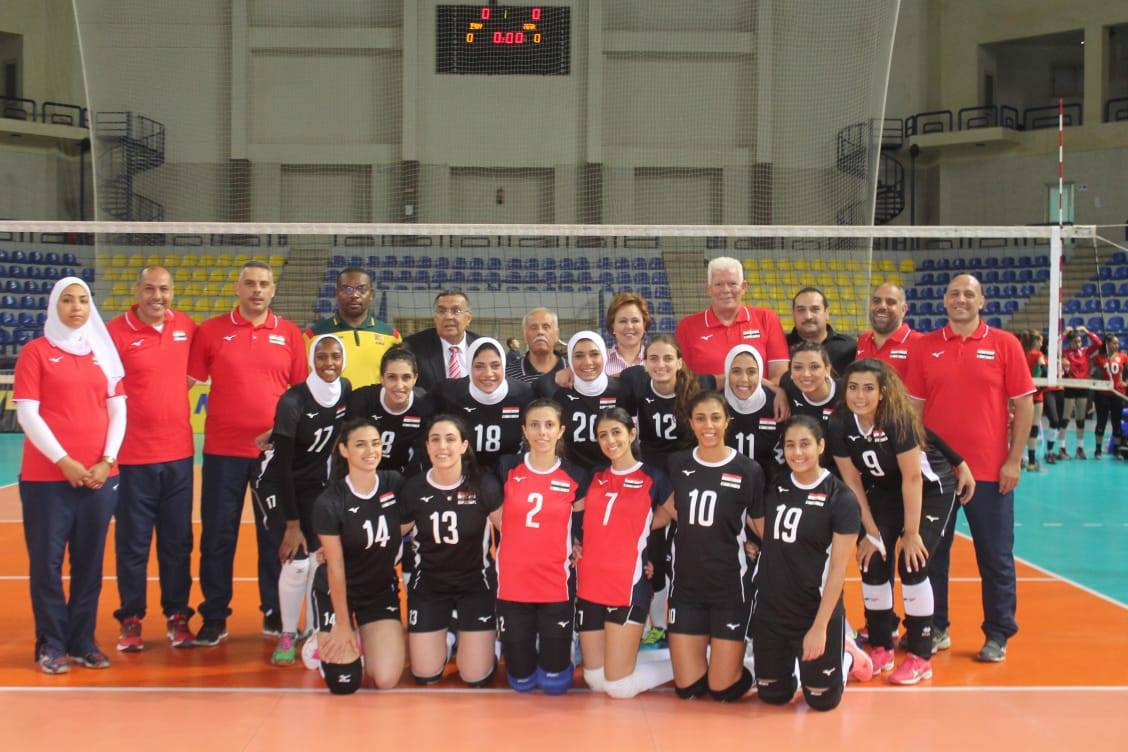 Egypt made it two wins from two and topped Group A ©CAVB
