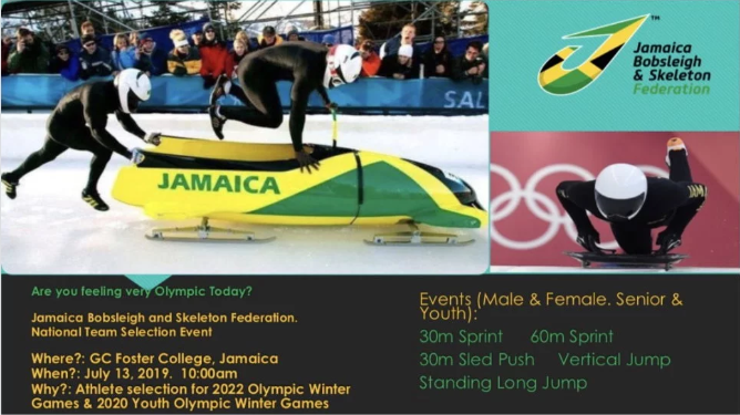 Jamaica on look-out for new bobsleigh and skeleton athletes