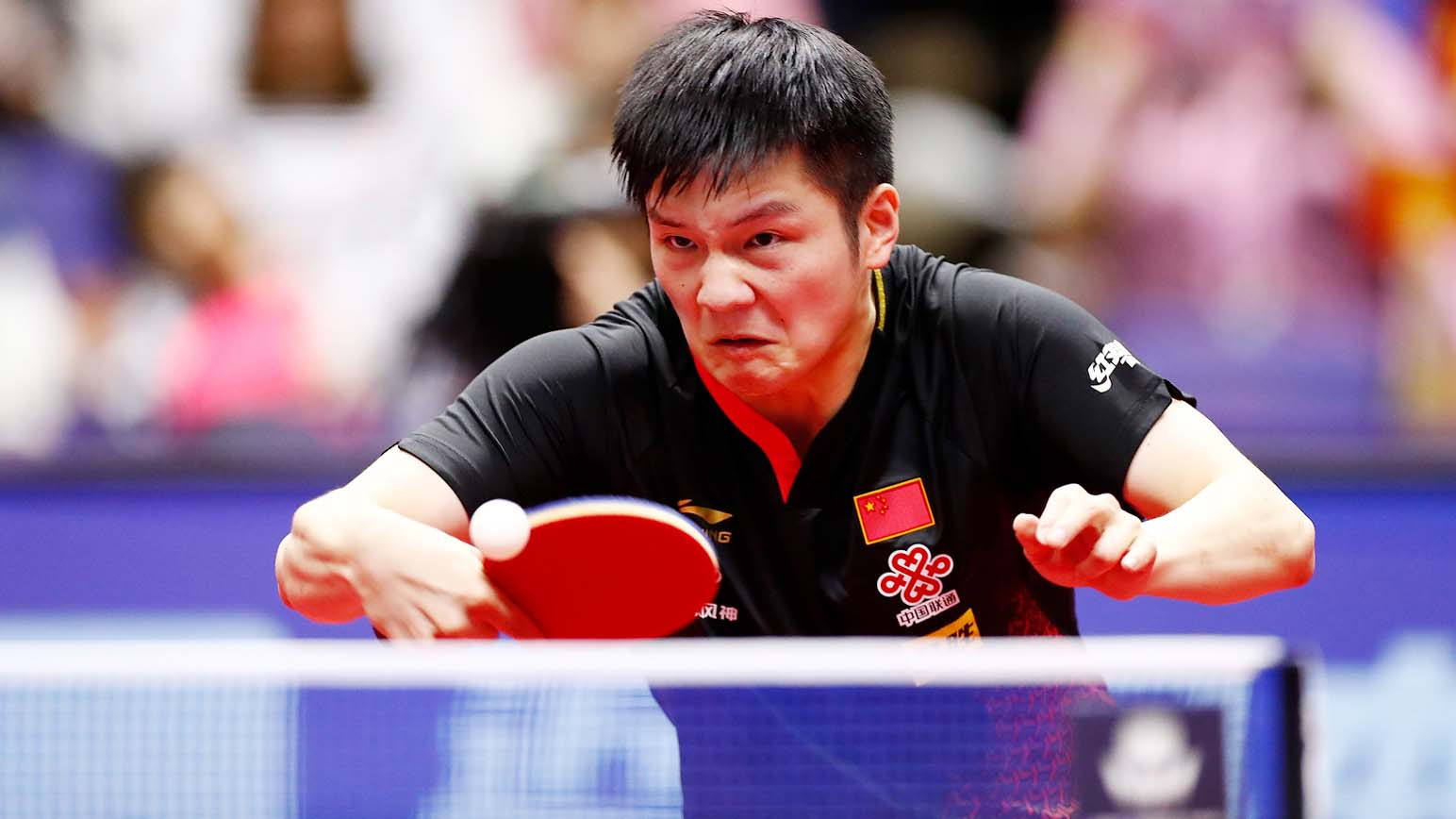 Fan Zhendong survived a scare as he needed seven games to get past Sweden's Kristian Karlsson ©ITTF